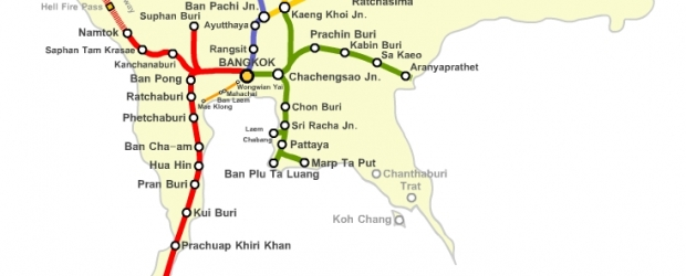 Mapa de trenes de Tailandia