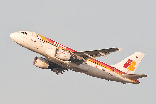 Iberia Airbus take-off Brussels